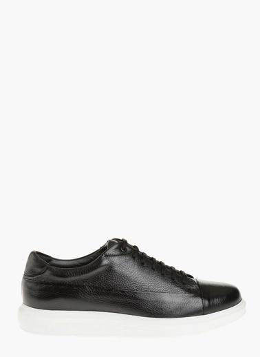 Divarese %100 Deri Bağcıklı Ayakkabı Siyah